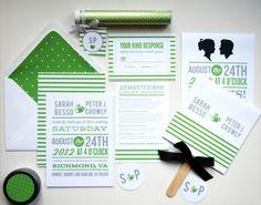 green wedding invitations--theSpunkySapphire.wordpress.com