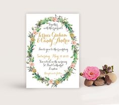 Watercolor Succulent Wedding Invitation Printable,  DIY wedding Succulent Invitation,  Succulent save the date,  The Jane collection by LisasGraphicDesign on Etsy https://www.etsy.com/listing/207390466/watercolor-succulent-wedding-invitation