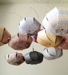 Indie Chic Saffron Sphere Mobile // Nursery Decor, Nursery Mobile, Modern Mobile