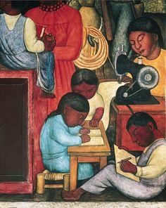 El hogar tan querido, Diego Rivera, 1922-1928