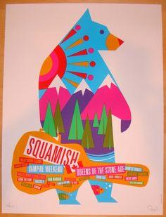 2013 Squamish Festival - Silkscreen Concert Poster by Dan Stiles