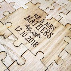 Jigsaw Puzzle Alternative Guest Book Set (Wooden)