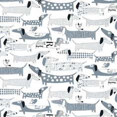Loboloup Wiener Dog Wallpaper Set of 2 | eBay