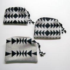 Pendleton Wool Purse Organizer Bags.native american inspired chic.VsV.