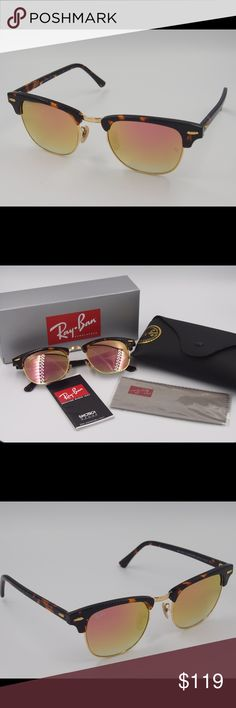 Ray ban clubmaster rose gold sunglasses Ray ban clubmaster rose gold sunglasses Brand new no scratches 100% really and you can check the letters carved in the glasses. Fast shipping Ray-Ban Accessories Sunglasses