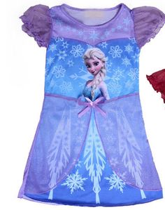 Frozen Elsa Nightgown Now Available! Shop SSKCouture.com Use promo code FALL10 for 10% off entire purchase! #frozen #anna