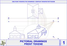 One Point Perspective, Perspective Drawing, Mechanical Symbols, Civil Drawing, Orthographic Projection, Solid Geometry, Posters, Drawings, Poster