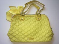 Betsey Johnson Yellow Heart Quilted Handbag Purse | Clothing, Shoes & Accessories, Women's Handbags & Bags, Handbags & Purses | eBay!