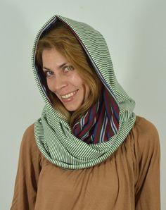 Infinity scarf,nursing cover,nursing scarf,striped from scarfmoment by DaWanda.com