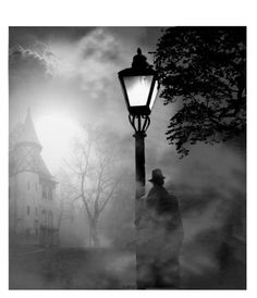 Your mysterious Castle Film Noir Photography, Dark Photography, Black And White Photography, Street Photography, Victorian Street, Detective Aesthetic, Ink Pen Art, O Gas, Macabre