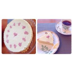 イチゴジャムでデコってみました☻ - 9件のもぐもぐ - Satomi Cafeさんの料理 お豆腐でレアチーズケーキ by satomicafe
