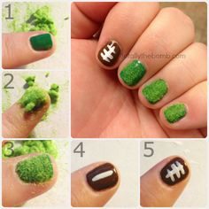 How To Paint Super Easy Football Nail Art