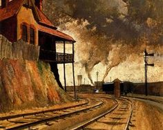 Keswick Siding - Jeffrey Smart 1945