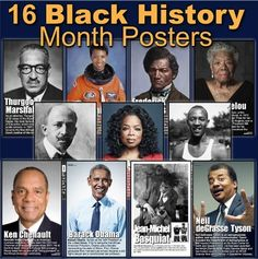 16 Posters of Diverse African Americans in History Psychology Graduate Programs, Colleges For Psychology, Teaching Government, History Lesson Plans, History Posters, Hispanic Heritage Month, Black History Month, Social Studies