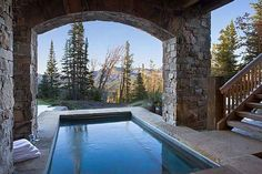 Summit Residence is a sensational rustic mountain retreat designed by Locati Architects, located in the prestigious ski resort community of Yellowstone Club, Big Sky, Montana. Cabin Porches, Montana, Yellowstone Club, Summit Homes, Pool Water Features, Home On The Range, Winter House, Big Sky, Cabins In The Woods
