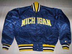 Starter Satin Michigan Wolverines Jacket