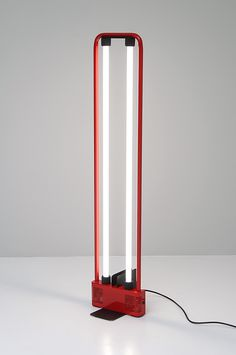 Gian Nicola Gigante; Enameled Metal Floor Lamp for Zerbetto, 1981.