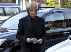 Eric Clapton attends the funeral of Jack Bruce at Golders Green Crematorium on November 5, 2014 in London, England.