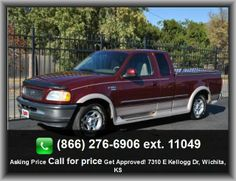 1998 Ford F-150 Lariat Pickup  Vehicle Emissions: Federal, Front Shoulder Room: 63.8, Clock: In-Radio Display, Fuel Consumption: City: 15 Mpg, Fixed Antenna, Am/Fm Stereo, Rear Bench, Front Ventilated Disc Brakes, Tires: Speed Rating: S, Instrumentation: Low Fuel Level,