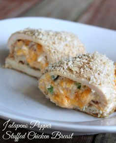 Jalapeño Stuffed Chicken Breast 327 Calories and 8 weight watchers points plus. Delicious make ahead meal!