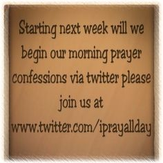 Twitter prayer sessions