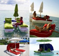 Cabana Float - perfect for the water or our beach.  I.NEED.THIS.  Perfect 50th birthday gift or Mother's Day.