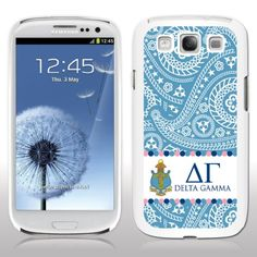 Delta Gamma Samsung Galaxy S3 White Plastic Slim Case - Paisley Print Design VictoryStore http://www.amazon.com/dp/B00IKSKHLG/ref=cm_sw_r_pi_dp_Rf37vb1R7E7TF
