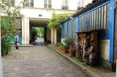 Paris : Cité du Figuier, des ateliers de métallurgie aux ateliers d'artistes - 104-106 rue Oberkampf - XIème   Paris la douce