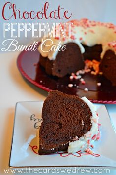 Chocolate Peppermint Bundt Cake from The Cards We Drew Blog #loveyourcup #cbias #shop