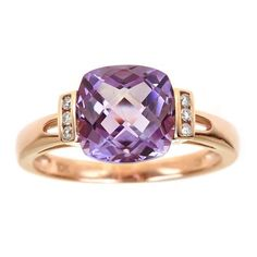 6104bd83d Amethyst and diamond ring This ring is available in size 7 only. Click here  for
