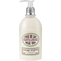 """""""Almond Milk Veil - Best lightweight lotion. Gives skin radiance.""""  And, we might add, it smells incredible! #loccitane #repinforsweetskin"""