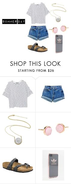 """""""Untitled #8"""" by hannamccaw on Polyvore featuring MANGO, Kakao By K, Pernille Corydon, Birkenstock and adidas"""