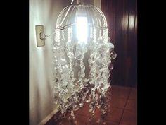 DIY: Como fazer luminária de garrafa pet e colheres de plástico linda!! - YouTube