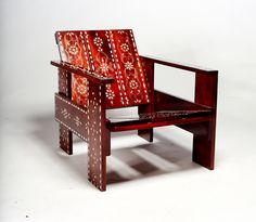 "The Medina Rietveld Fauteuil, ""Crate Chair"" variation by David Van Der Veldt"