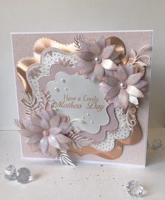 Luxury Boxed Handmade Rose Gold Mother S Day Card Chloes Creative Cards Pinterest Birthday Cards Cards Handmade