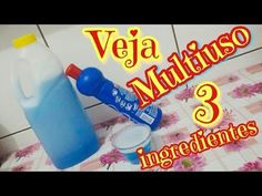 VEJA ESSE MULTIUSO CASEIRO COM 3 INGREDIENTES - YouTube Zen, Ramadan, Remedies, Bottle, Youtube, Decoration, Best Cleaning Products, Homemade Cleaning Products, Homemade Washing Detergent