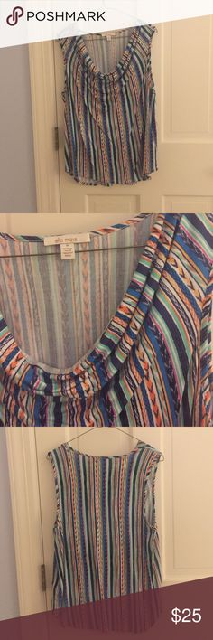 Ella Moss Striped Shirt Perfect condition. Make an offer! No trades. Ella Moss Tops Muscle Tees