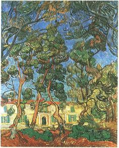 Trees in the Garden in Front of the Entrance to Saint-Paul Hospital/1889/Vincent Van Gogh