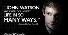 """John Watson saves Sherlock Holmes life in so many ways."" - Steven Moffat Sherlock Chronicles page 69 #TimBeta #SDV #TimBetaLab #OperacaoBetaLab #BetaAjudaBeta #TimBetaAjudaTimBeta"