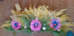 Bandeau plumes de carnaval des antilles : Accessoires coiffure par claudeplume