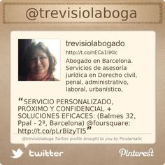 Twitter profile: @Trevisiol Abogado