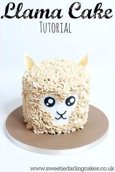 6 Awesome Llama Cakes - diy Thought Cupcakes, Cupcake Cakes, Shoe Cakes, Photos Folles, Buckwheat Cake, Llama Birthday, Diy Birthday Cake, Animal Cakes, Buttercream Recipe