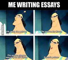 Me when I write essays