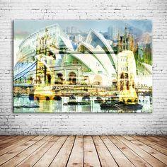 """""""WHAT A WONDERFUL WORLD"""", die neue oh!chapeau Weltcollage, zeigt in überschwimmender Art Weise die Städte Rom, Sydney, Barcelona und London auf. Diese Collage eignet sich besonders gut für Reisende und Reiseliebhaber. Ihr habt mit dieser Collage wieder eine außergewöhnliche und personalisierbare Collage für Eure Wohnzimmer-, Kinderzimmer-, Küchen- oder Bürowand vor Euch."""