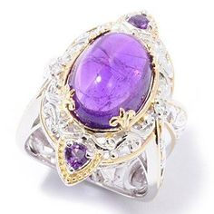 bing images of sapphire gemstones | Gems en Vogue II Amethyst Cabochon w/Trillion Accents & White ...