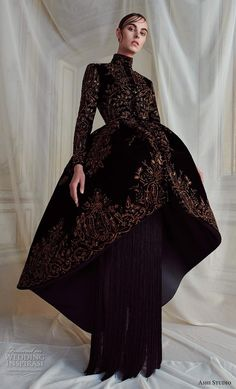 Ashi Studio Parigi - Haute Couture Fall Winter - Shows - Vogue. Haute Couture Style, Couture Mode, Couture Week, Couture Fashion, Runway Fashion, Live Fashion, Fashion Show, Fashion Design, Fashion News