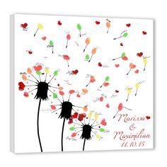 Fingerprint tree – wedding wishes dandelion - Diy Origami Ideen Tree Wedding, Wedding Wishes, Wedding Guest Book, Diy Wedding, Indoor Wedding, Fingerprint Wedding, Fingerprint Art, Diy And Crafts, Crafts For Kids
