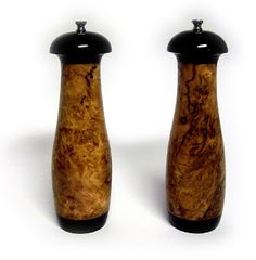 Mike's Pepper Mills By Design: Custom Salt and Pepper Mills - Eucalyptus Burl and Ebony
