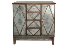 deco beveled mirrored cabinet
