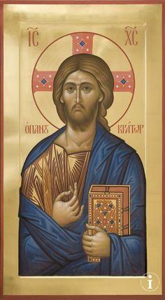 A Beautiful Traditional Icon of Christ the Savior Religious Images, Religious Icons, Religious Art, Byzantine Icons, Byzantine Art, Christ Is Risen, Jesus Christ, Savior, Christ Pantocrator
